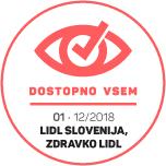 Dostopno vsem - Izjava o dostopnosti za www.zdravko-lidl.si