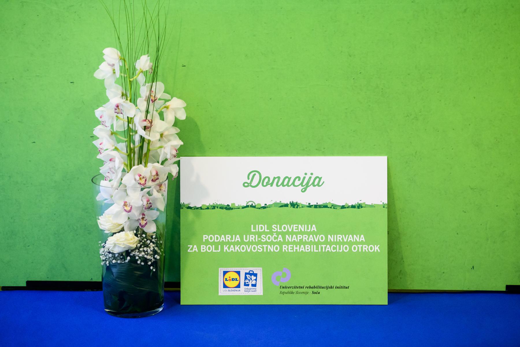 Donacija, ki jo podarja Lidl URI-SOČA