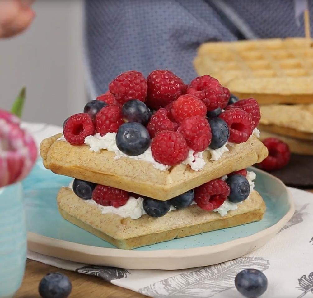 Pirini vaflji kot mini tortica