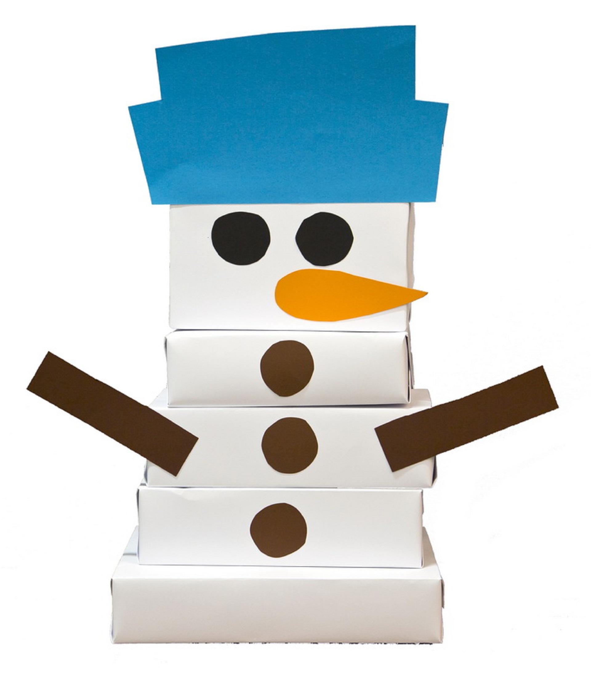 Snežak iz škatle