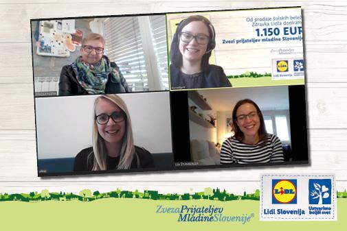 Donacija Zvezi prijateljev mladine Slovenije je tokrat potekala preko sodobnih online kanalov.