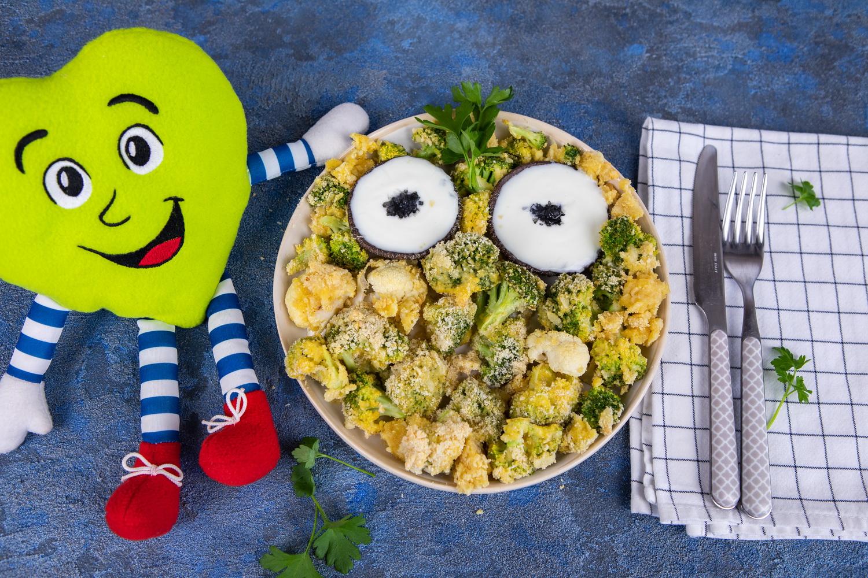 Slastna hrustljava brokoli in cvetača